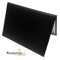 "Padded Black Diploma Cover - (Holds 5.5"" x 8.5"" Sheet)"