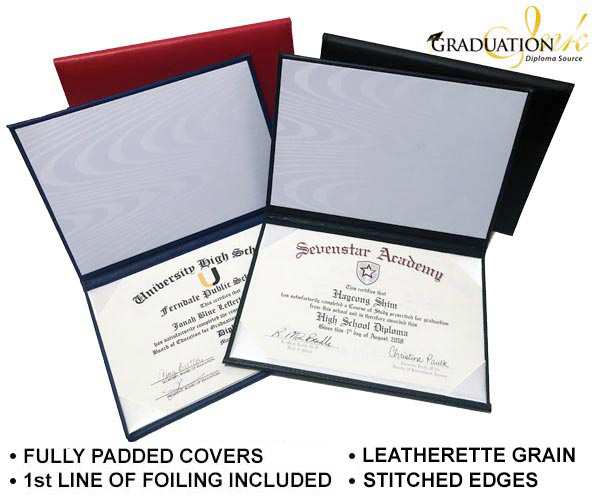 Foiled Certificate Covers