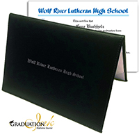 Green Christian Diploma Cover & Custom Diploma Sheet