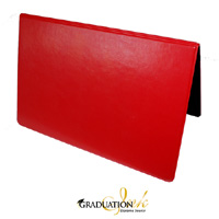 "Two-Toned Red & Black Diploma Cover - (Holds 5.5"" x 8.5"" Sheet)"