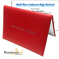 Red Christian Diploma Cover & Custom Diploma Sheet