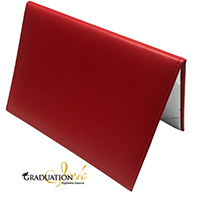 "Padded Red Diploma Cover - (Holds 5.5"" x 8.5"" Sheet)"