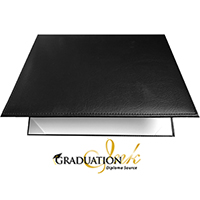 "Black Padded Diploma Cover - (Holds 8.5"" x 11"" Sheet)"
