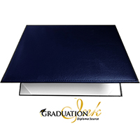 "Padded Navy Blue Diploma Cover - (Holds 8.5"" x 11"" Sheet)"