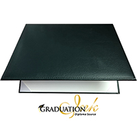 "Green Padded Diploma Cover - (Holds 8.5"" x 11"" Sheet)"