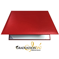"Red Padded Diploma Cover - (Holds 8.5"" x 11"" Sheet)"