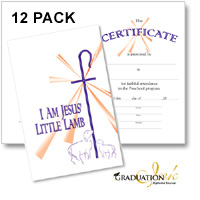 Christian Preschool Certificate with Envelope (12 pack)