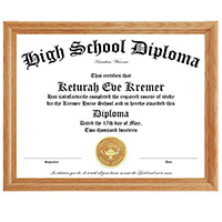 High School Framed Diploma