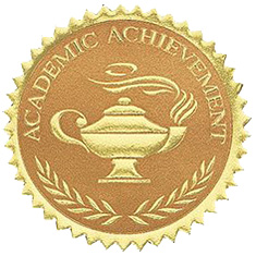 Academic Achievement Embossed Seal Lamp of Learning