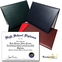 Series 850 High School Home School Diploma Cover & Diploma Sheet