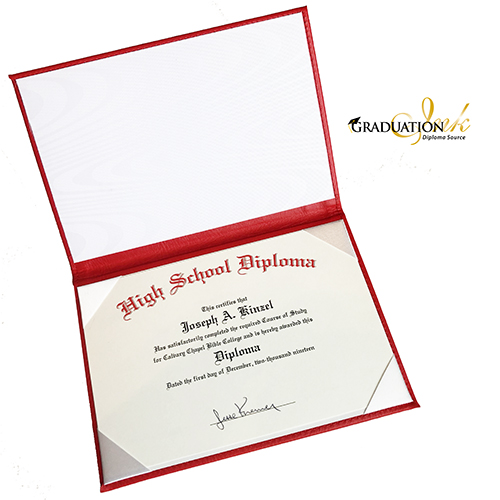 Foiled Home School Certificate Covers