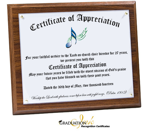Personalized Church Recognition Plaque