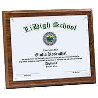 Custom Graduation Diploma Plaque