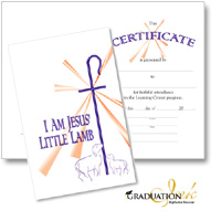 Christian Learning Center Certificate with Envelope