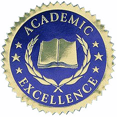 Academic Excellence Homeschool Embossed Seal
