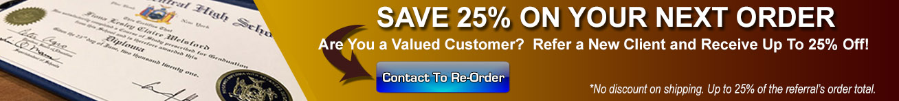 Save Up to 25% On Re-Orders