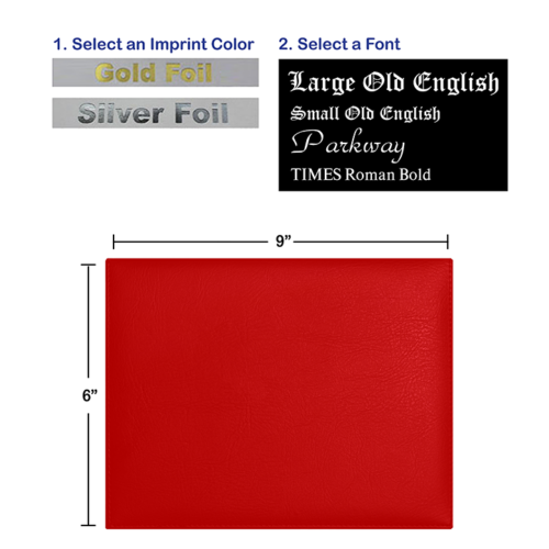 Foil Stamped Red Diploma Cover