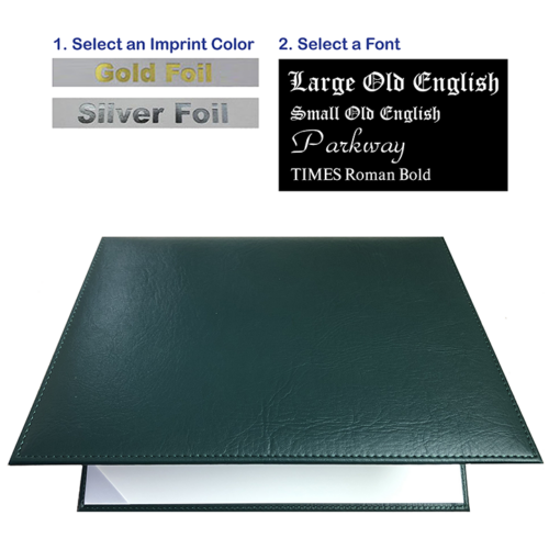 Imprinted Forest Green Diploma Cover