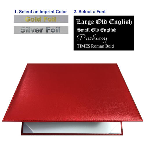 Imprinted Red Diploma Cover