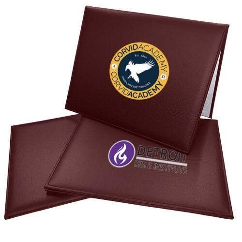 Full Color Burgundy Diploma Cover