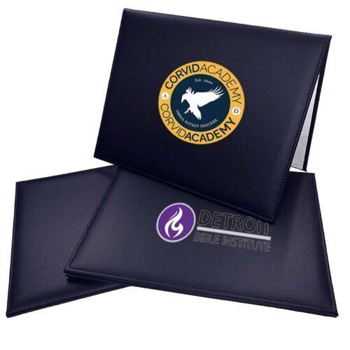 Full Color Navy Blue Diploma Cover