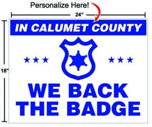 Back the Badge Sign